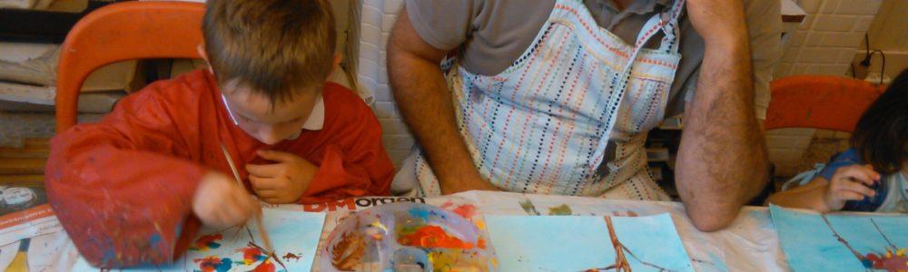Kids Parents Art classes TOGETHER - Cours d'art Parent Enfant ENSEMBLE